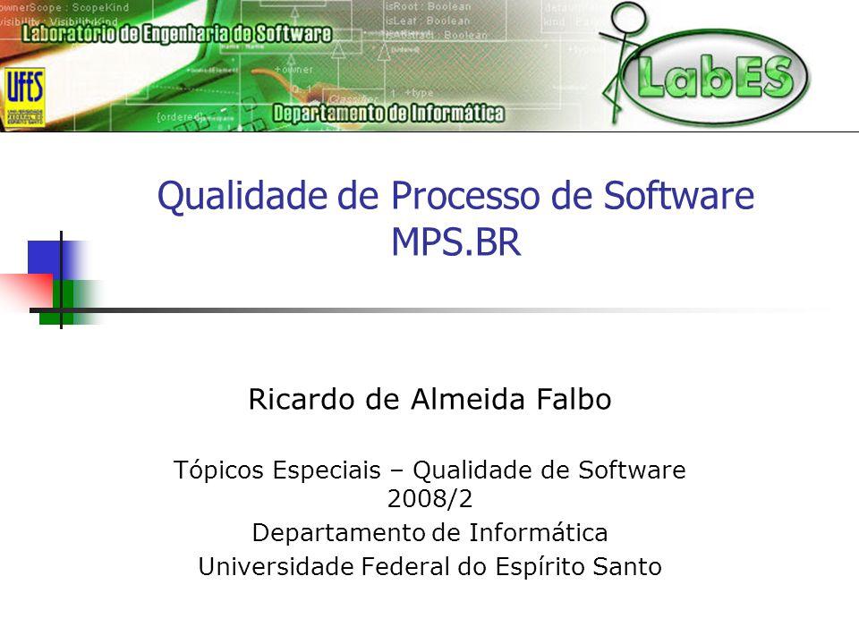 Qualidade de Processo de Software MPS.BR