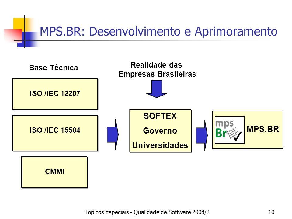 MPS.BR: Desenvolvimento e Aprimoramento