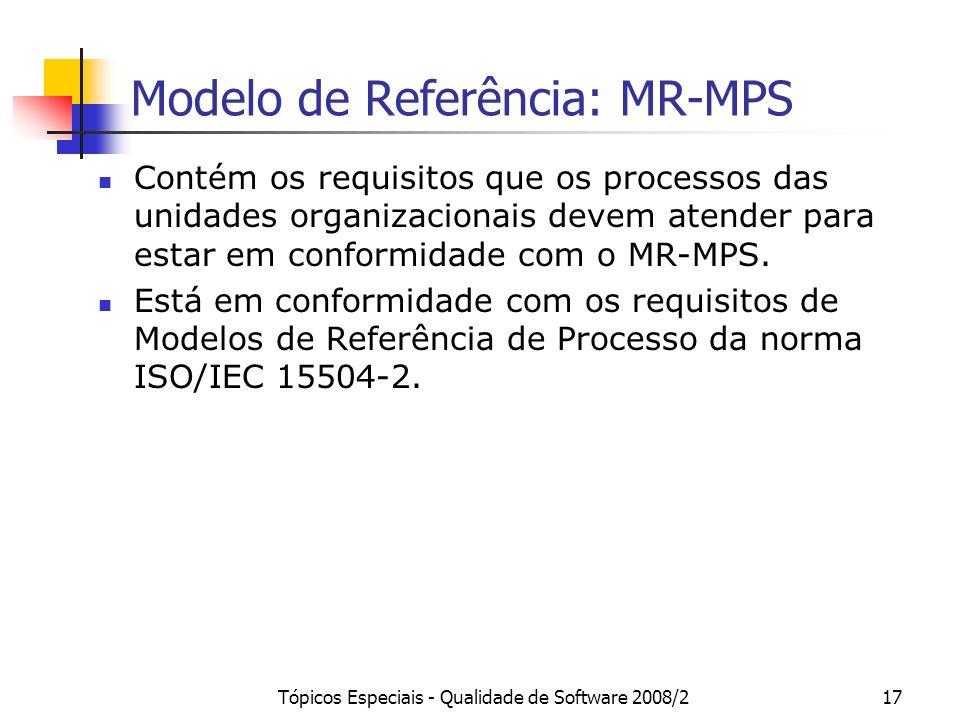 Modelo de Referência: MR-MPS