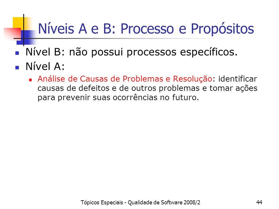 Níveis A e B: Processo e Propósitos