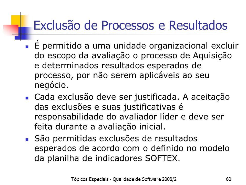 Exclusão de Processos e Resultados