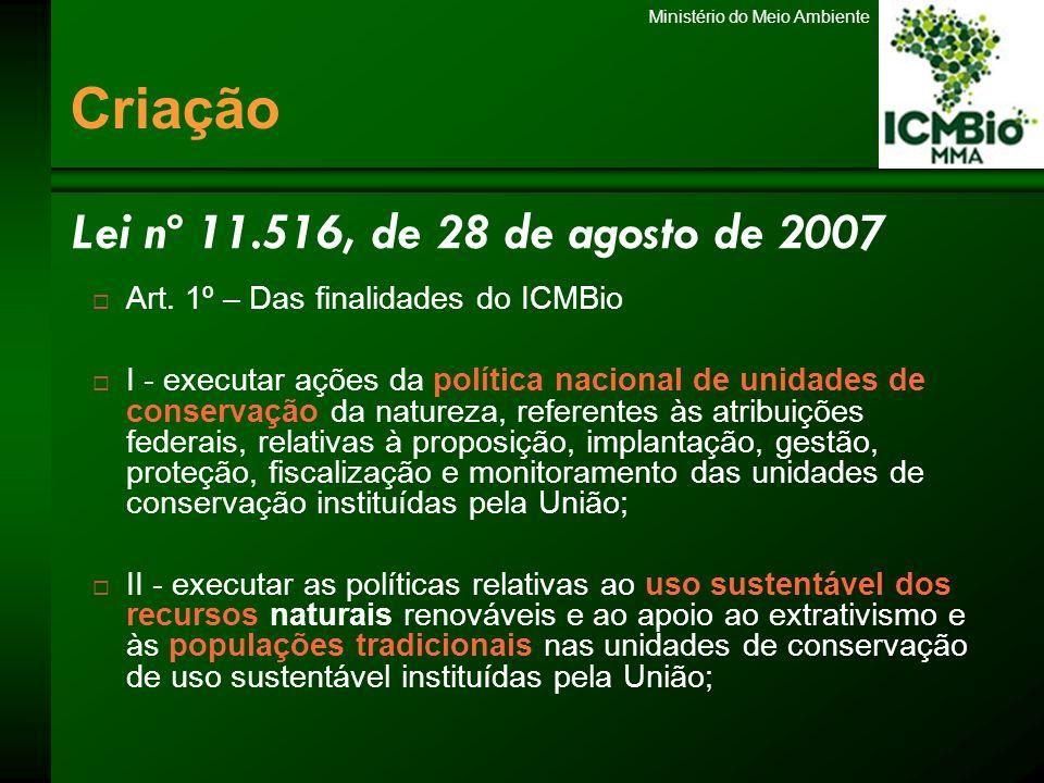 Criação Lei nº 11.516, de 28 de agosto de 2007