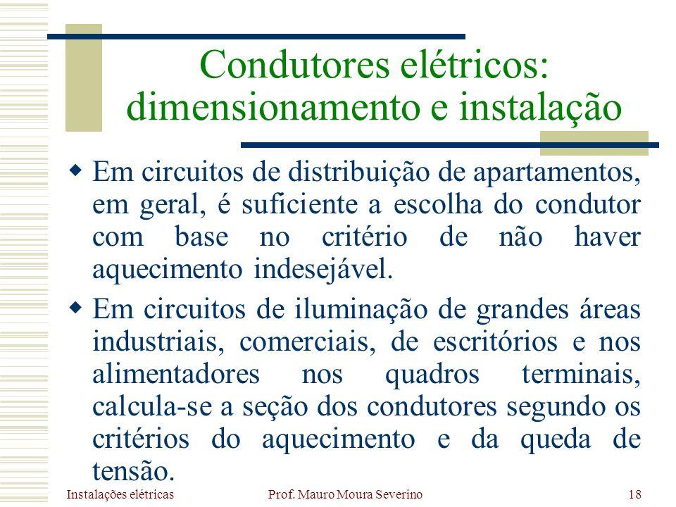 Condutores elétricos: dimensionamento e instalação