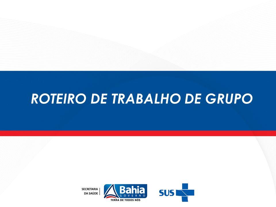 ROTEIRO DE TRABALHO DE GRUPO