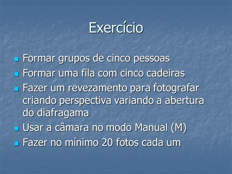 Exercício Formar grupos de cinco pessoas