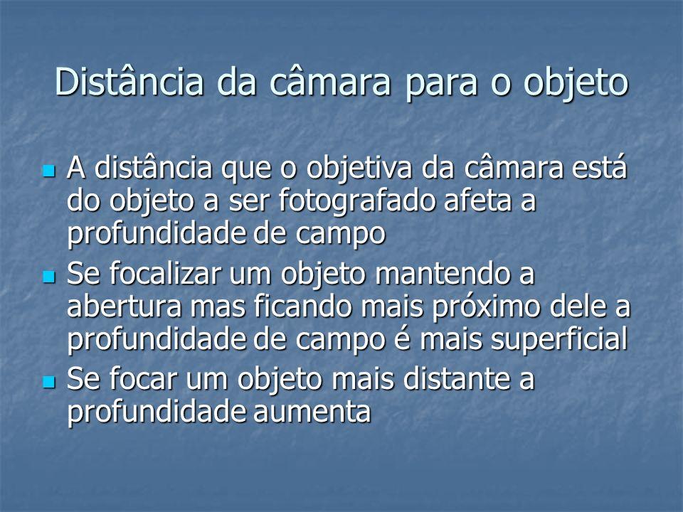 Distância da câmara para o objeto