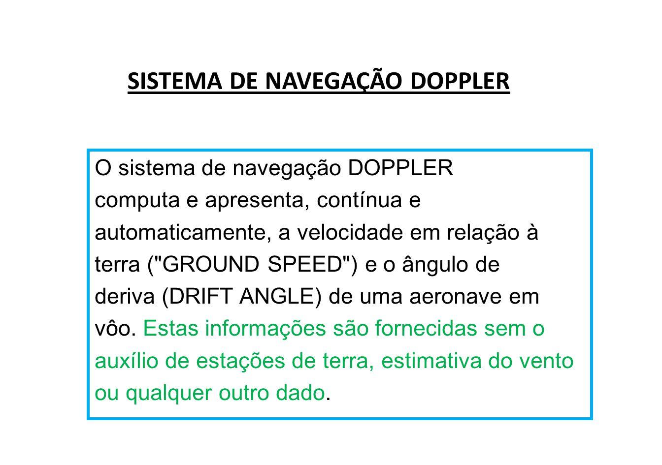 SISTEMA DE NAVEGAÇÃO DOPPLER