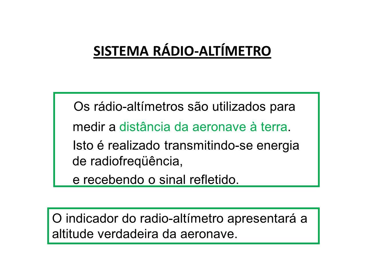 SISTEMA RÁDIO-ALTÍMETRO