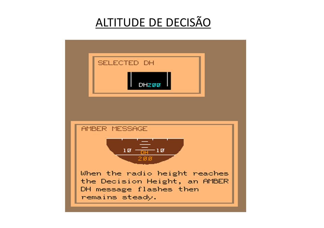 ALTITUDE DE DECISÃO