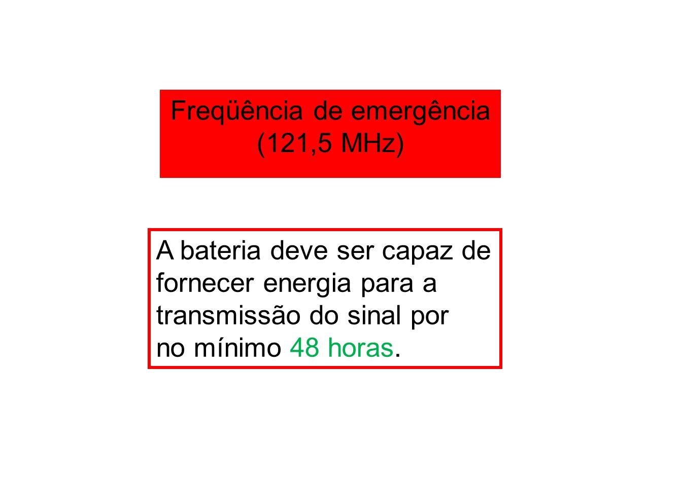 Freqüência de emergência (121,5 MHz)
