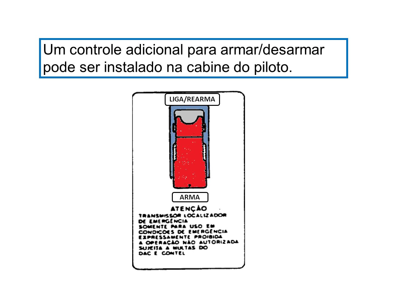 Um controle adicional para armar/desarmar