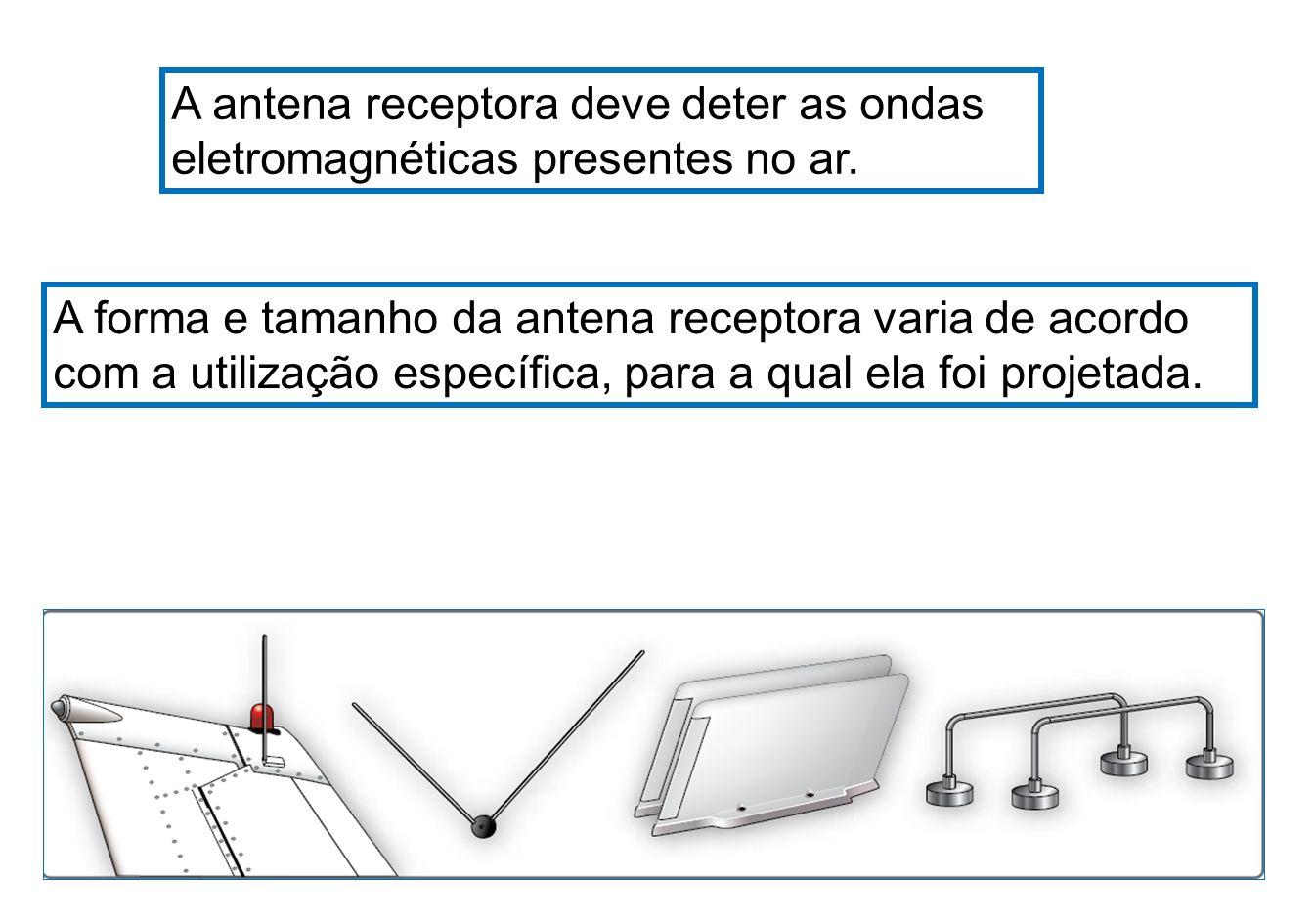 A antena receptora deve deter as ondas