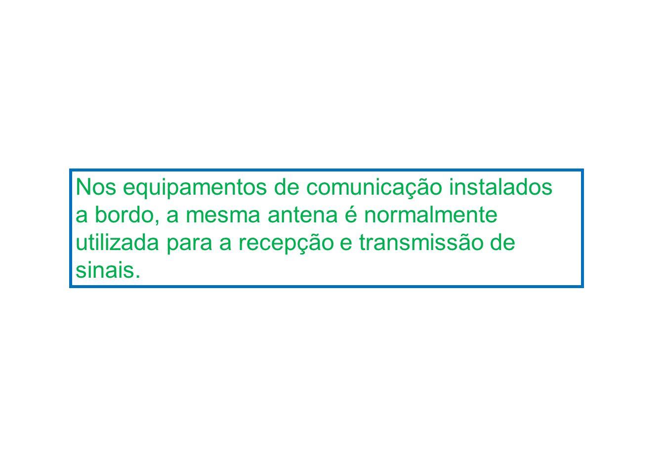 Nos equipamentos de comunicação instalados