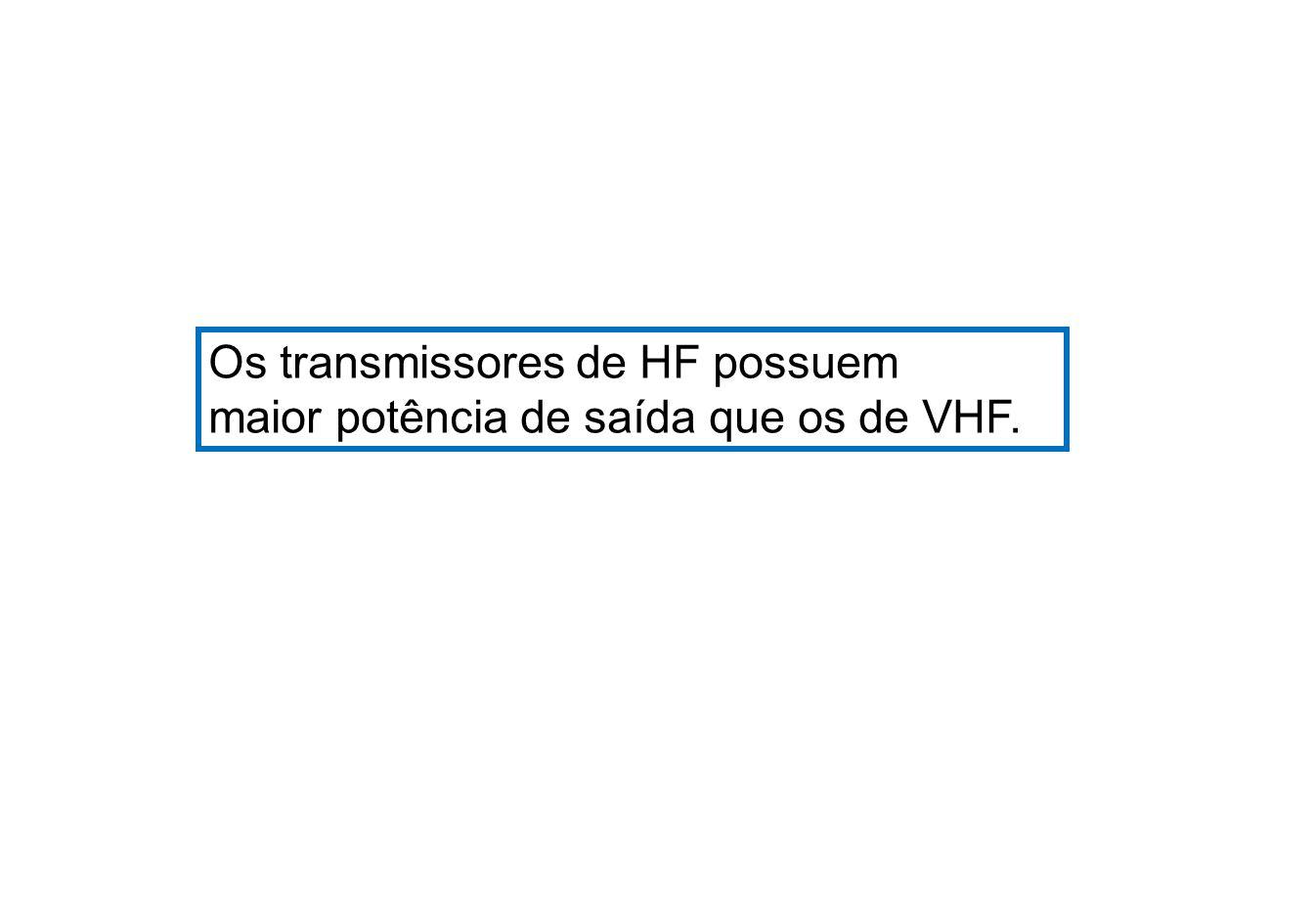 Os transmissores de HF possuem