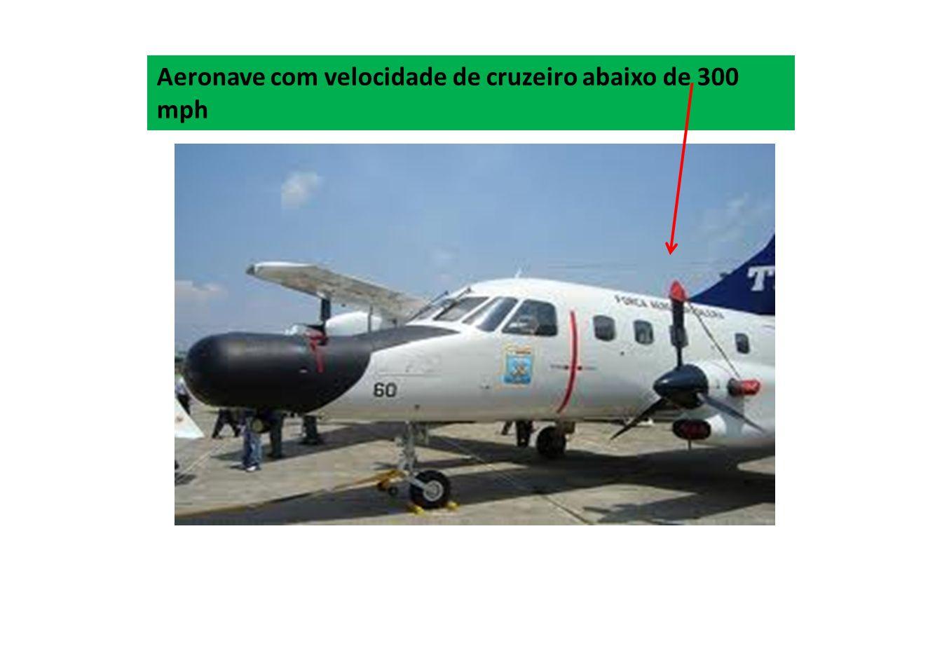 Aeronave com velocidade de cruzeiro abaixo de 300 mph