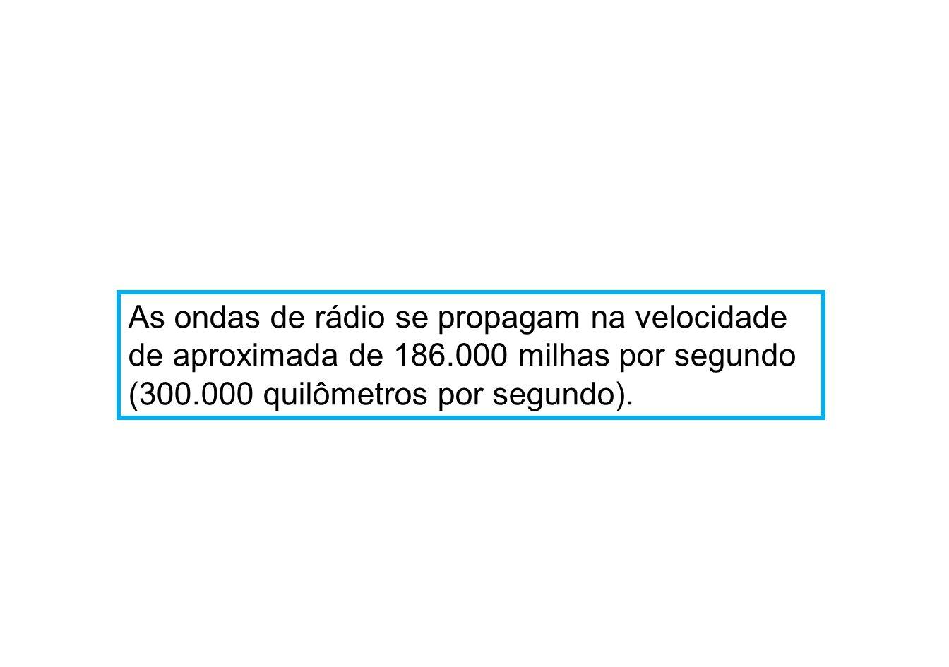 As ondas de rádio se propagam na velocidade