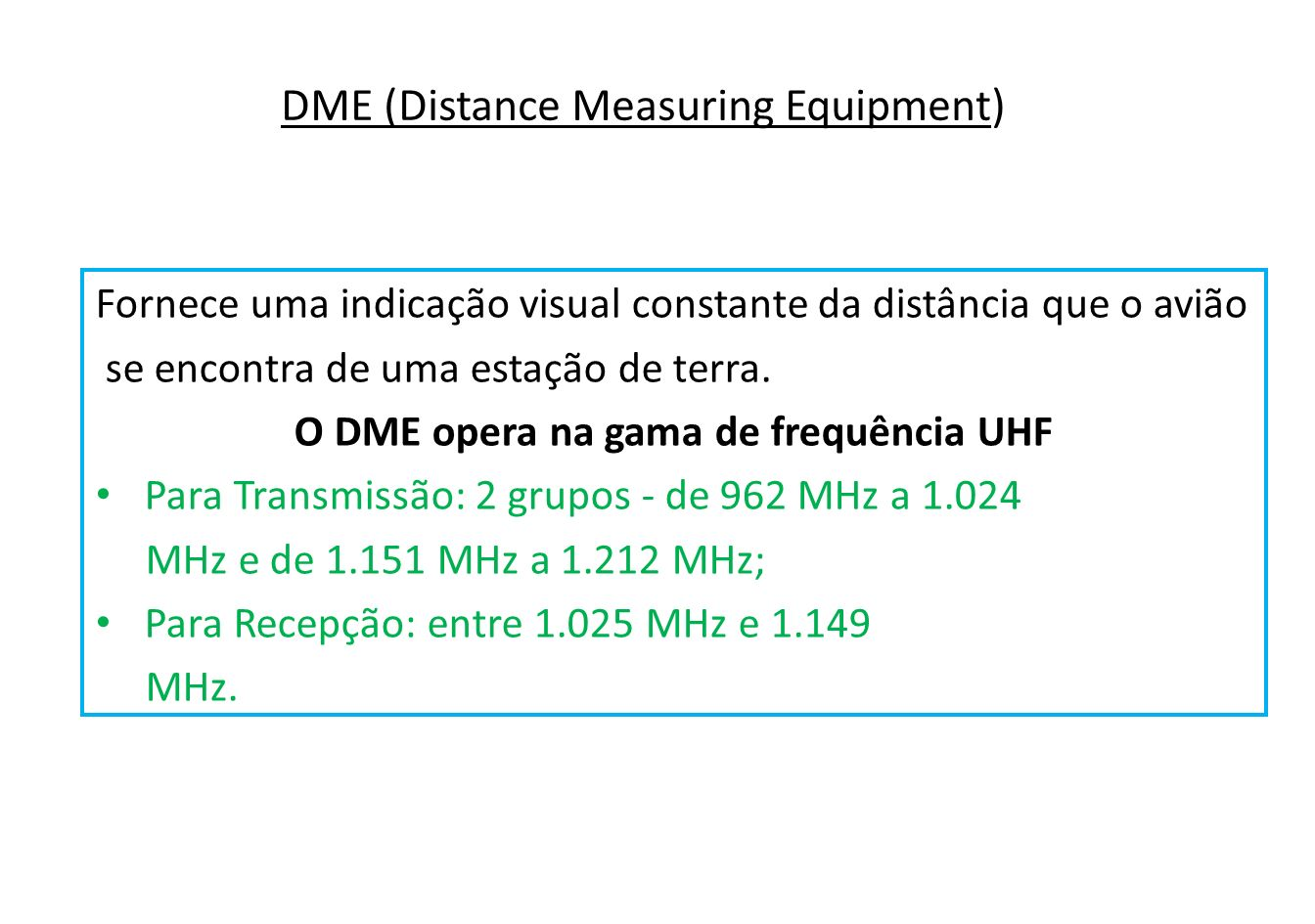 DME (Distance Measuring Equipment)