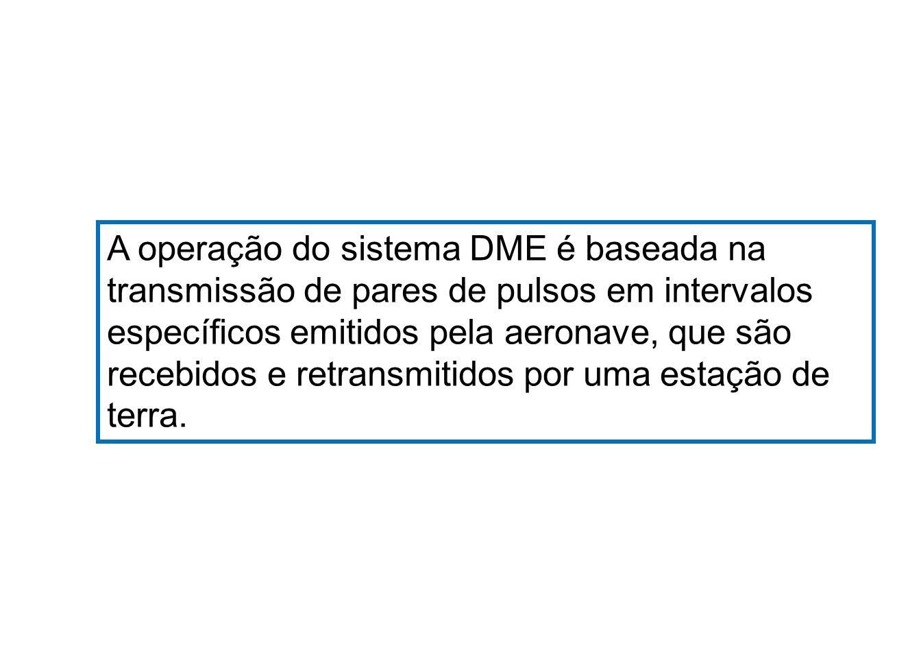 A operação do sistema DME é baseada na