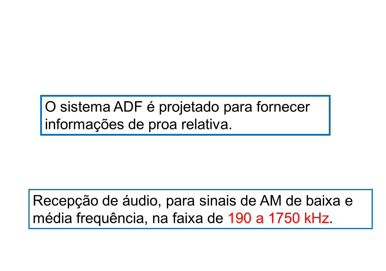 O sistema ADF é projetado para fornecer