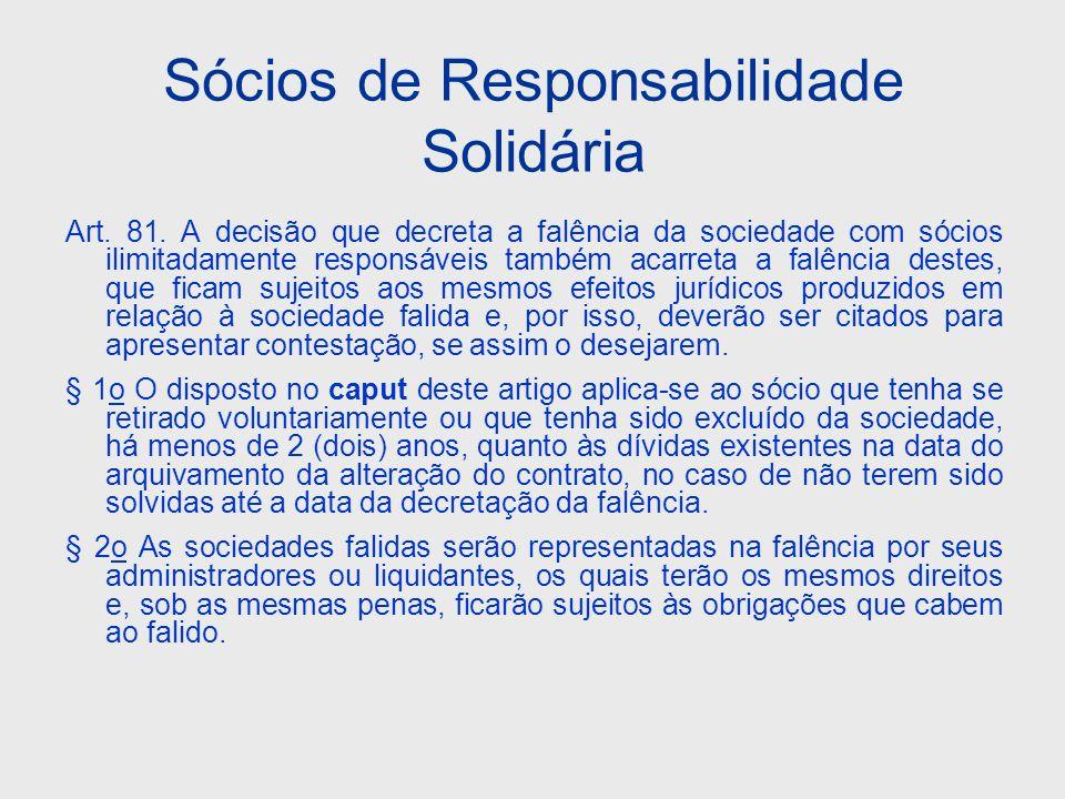 Sócios de Responsabilidade Solidária