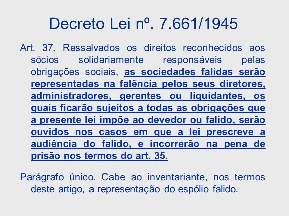 Decreto Lei nº. 7.661/1945