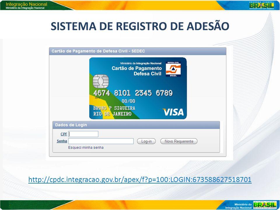 SISTEMA DE REGISTRO DE ADESÃO