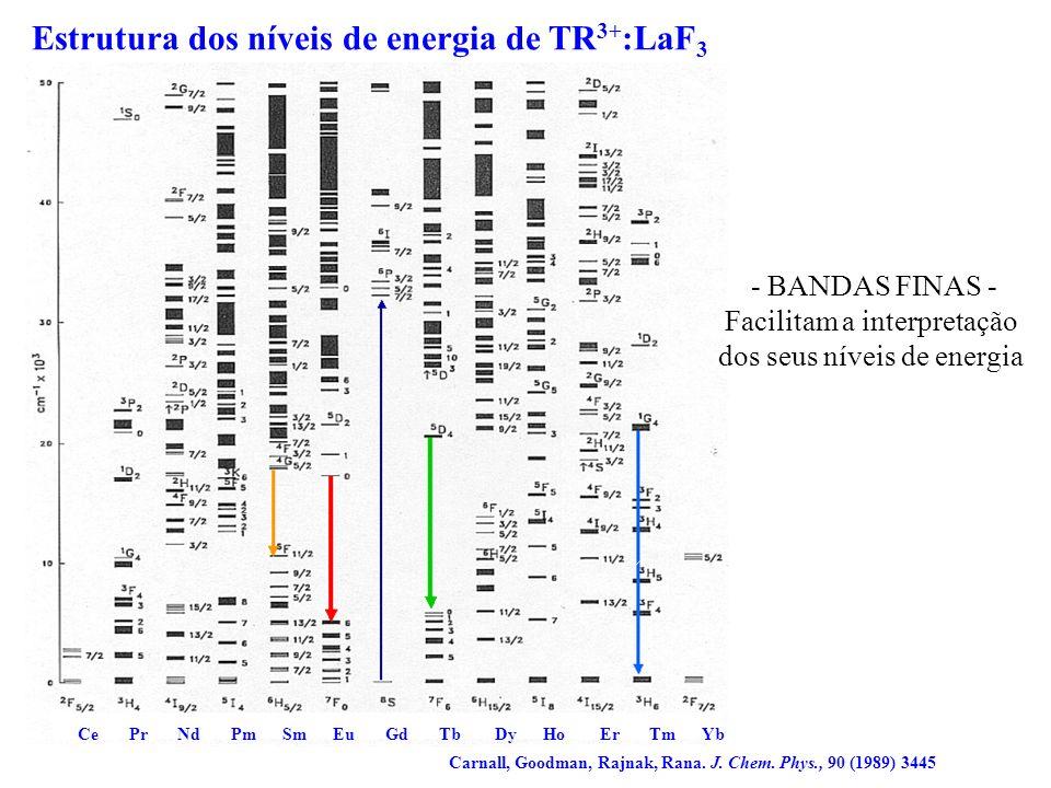 Estrutura dos níveis de energia de TR3+:LaF3
