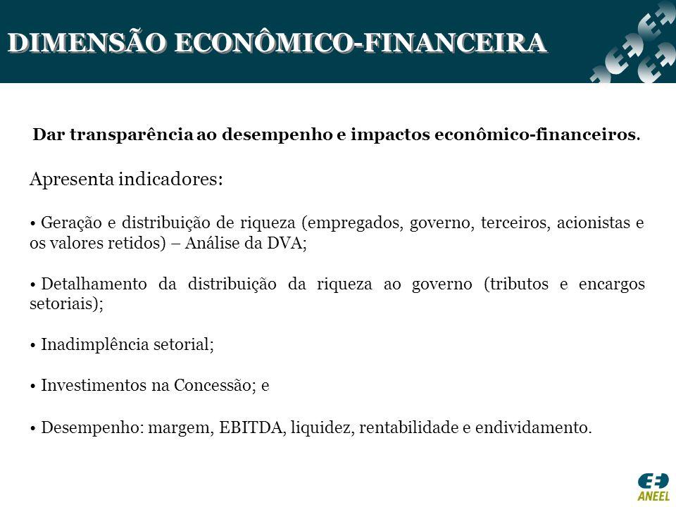 DIMENSÃO ECONÔMICO-FINANCEIRA