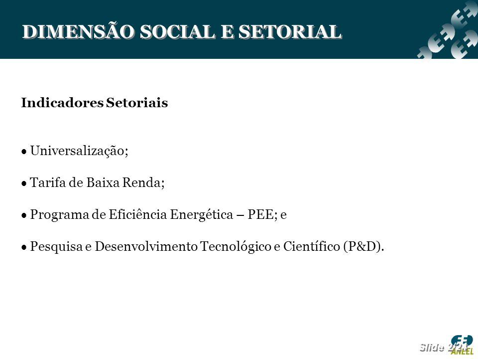 DIMENSÃO SOCIAL E SETORIAL