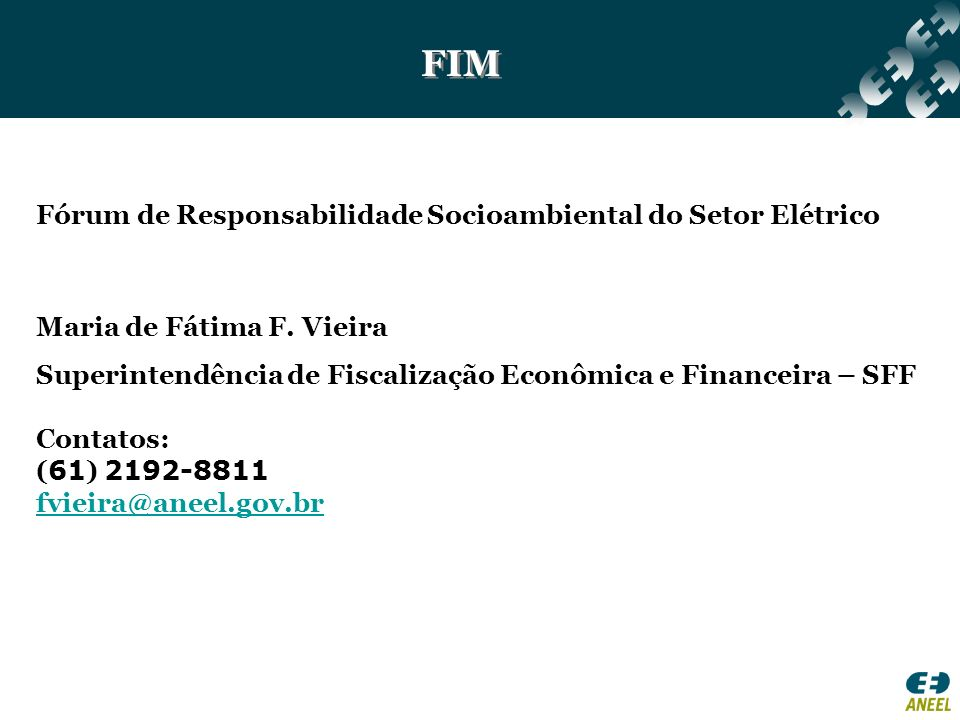 FIM Fórum de Responsabilidade Socioambiental do Setor Elétrico
