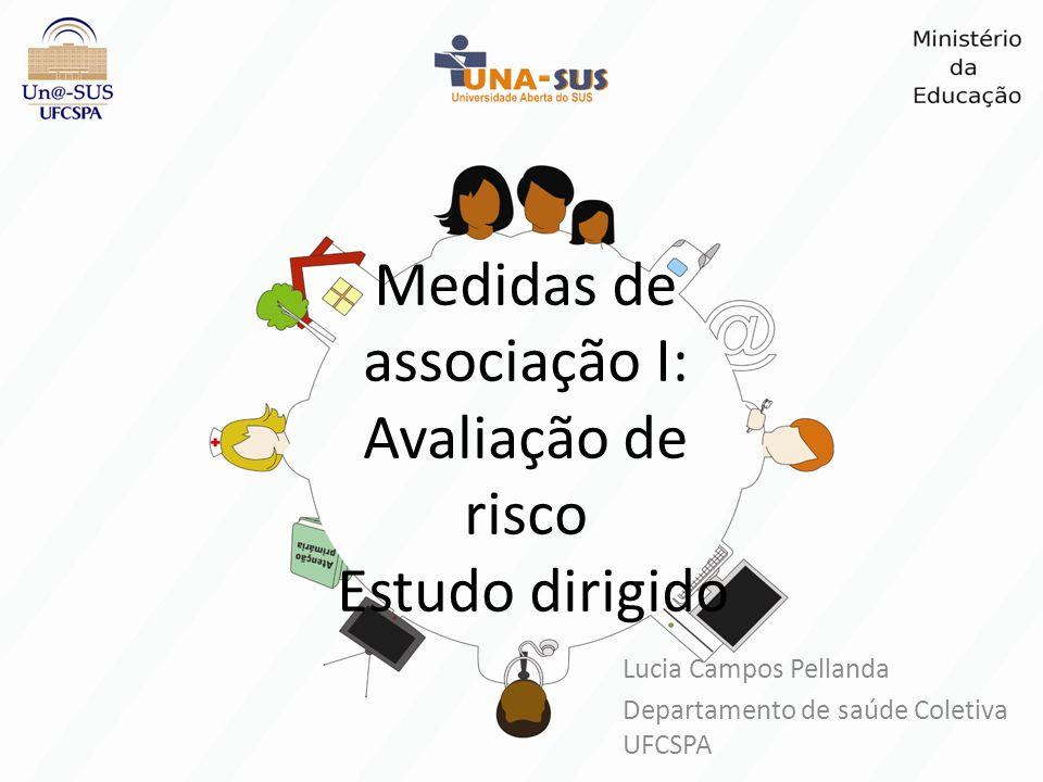 Medidas de associação I: Avaliação de risco Estudo dirigido