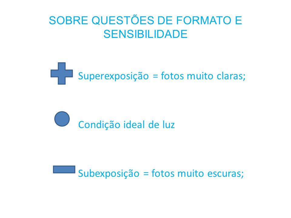 SOBRE QUESTÕES DE FORMATO E SENSIBILIDADE