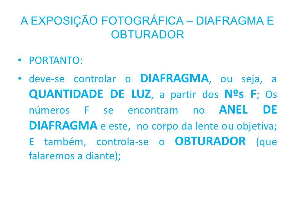 A EXPOSIÇÃO FOTOGRÁFICA – DIAFRAGMA E OBTURADOR