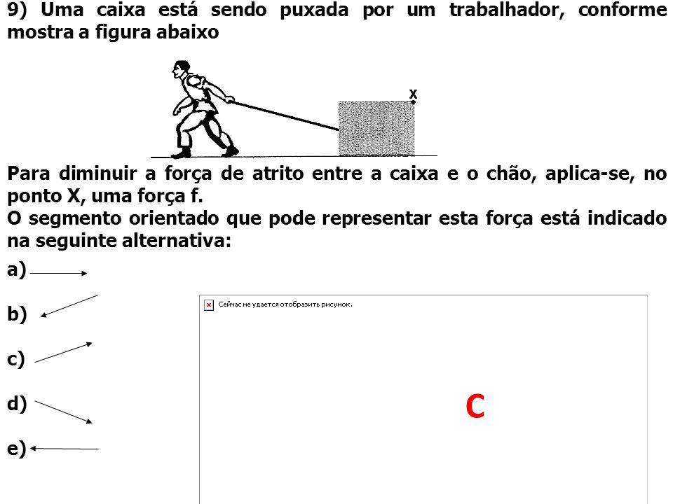 9) Uma caixa está sendo puxada por um trabalhador, conforme mostra a figura abaixo