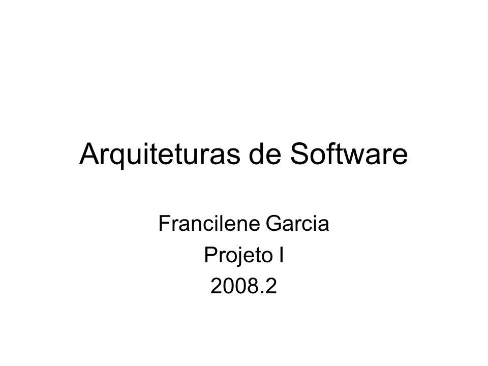 Arquiteturas de Software
