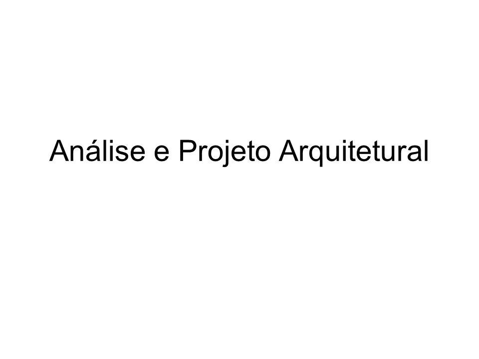 Análise e Projeto Arquitetural
