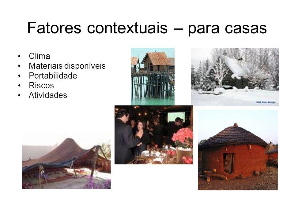 Fatores contextuais – para casas