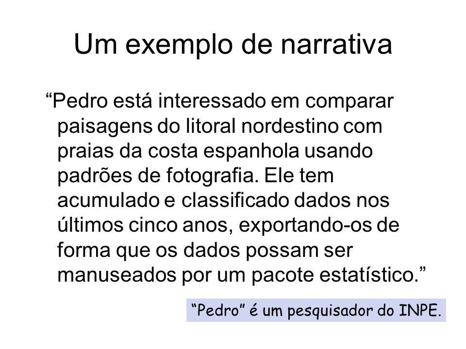 Um exemplo de narrativa