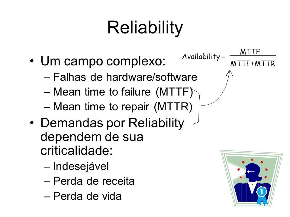 Reliability Um campo complexo: