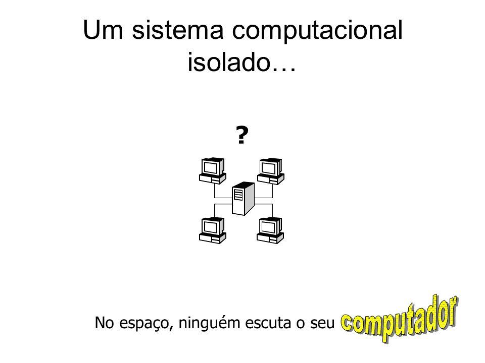 Um sistema computacional isolado…