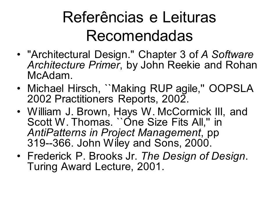 Referências e Leituras Recomendadas