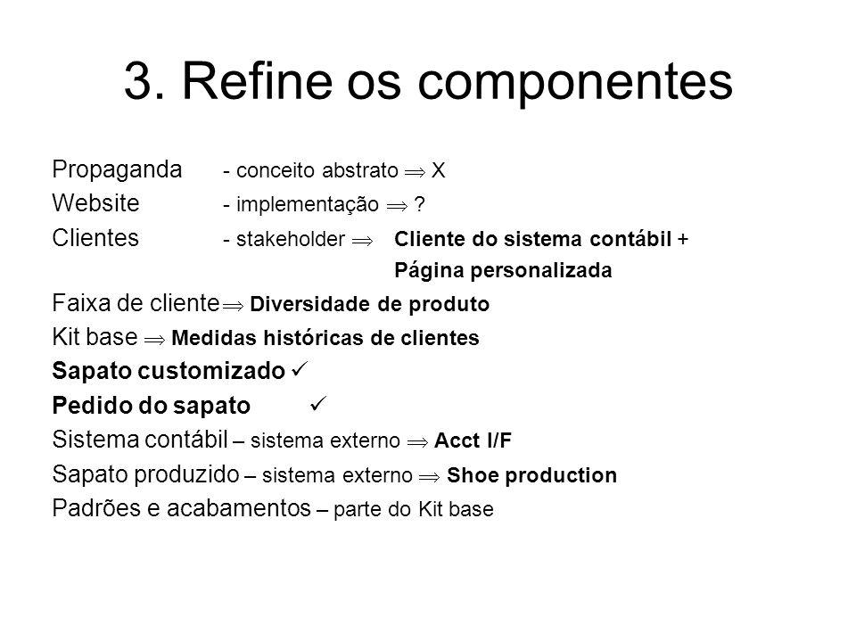 3. Refine os componentes Propaganda - conceito abstrato  X