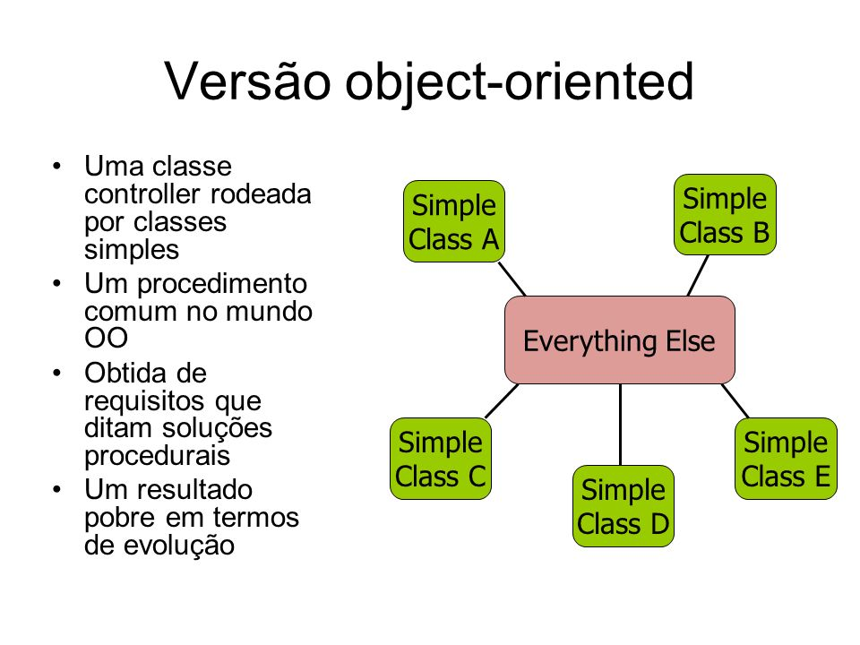 Versão object-oriented