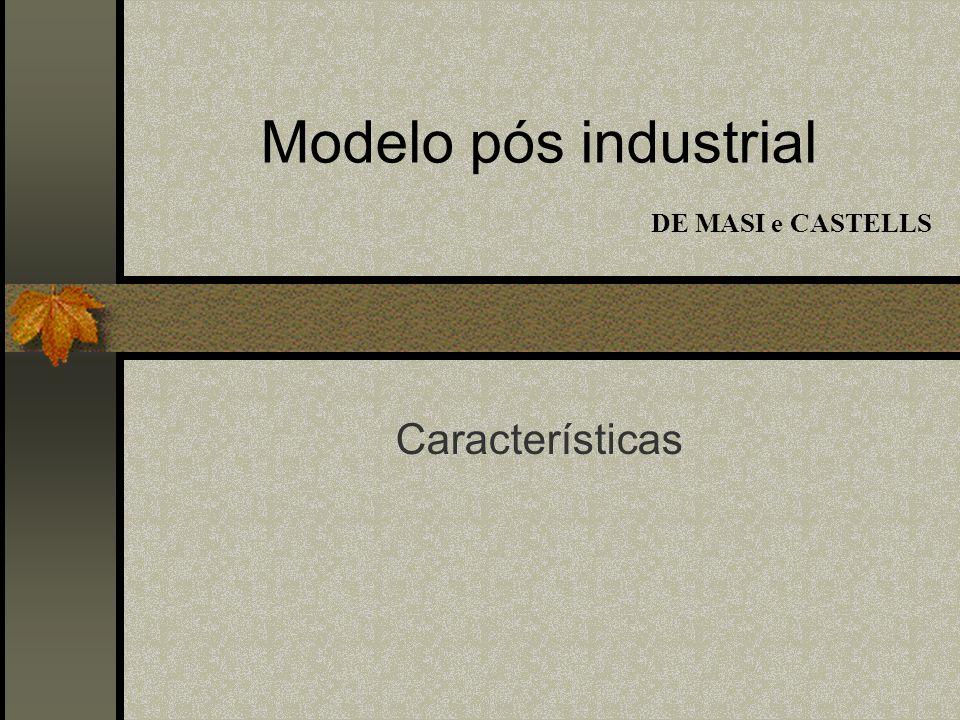 Modelo pós industrial DE MASI e CASTELLS