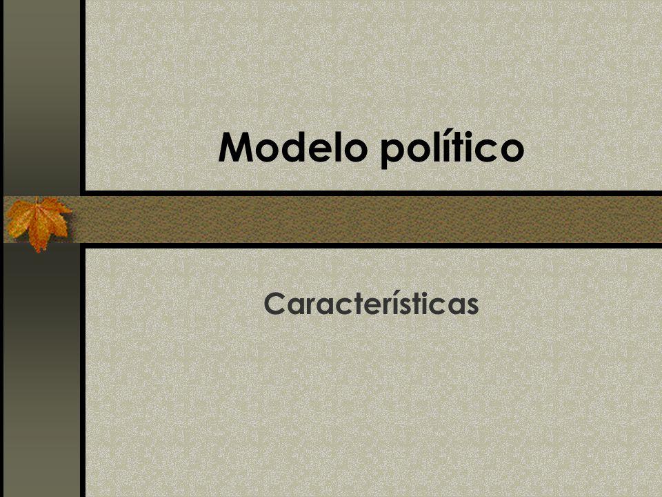 Modelo político Características