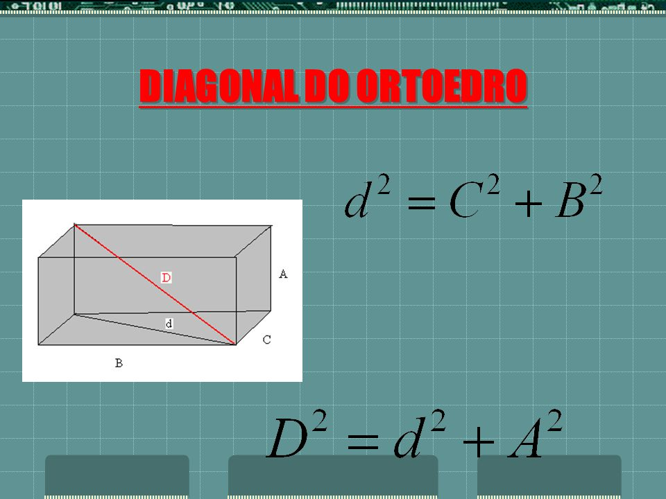 DIAGONAL DO ORTOEDRO