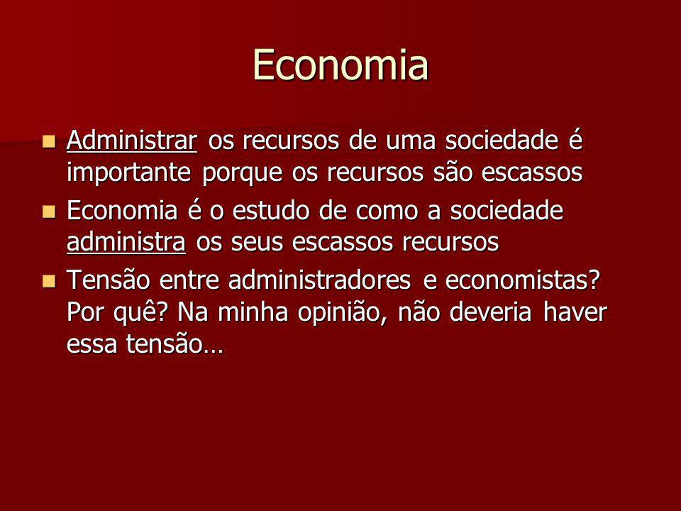EconomiaAdministrar os recursos de uma sociedade é importante porque os recursos são escassos.