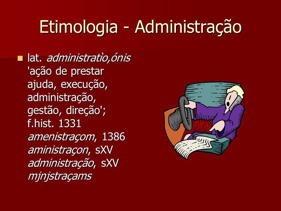 Etimologia - Administração