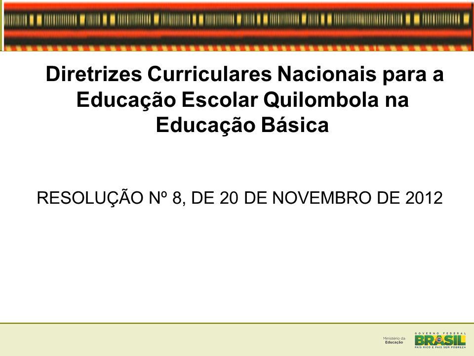 RESOLUÇÃO Nº 8, DE 20 DE NOVEMBRO DE 2012