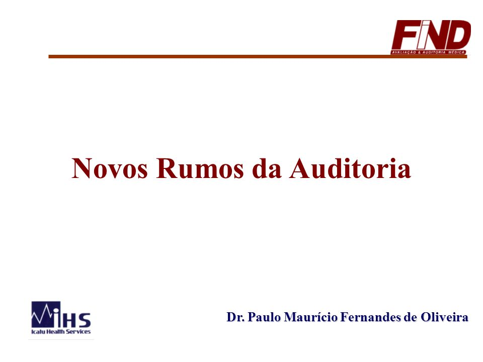 Novos Rumos da Auditoria